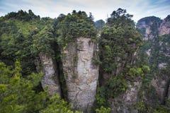 porslinliggande som bedövar zhangjiajie Arkivfoton