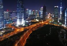 porslinpanorama shanghai royaltyfri foto