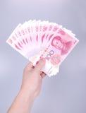 porslinpengar 1500 rmb100 yuan Royaltyfria Bilder