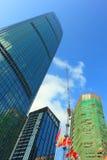 porslinshenzhen skyskrapor Fotografering för Bildbyråer