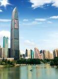 porslinshenzhen skyskrapor Arkivbilder