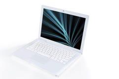 Portátil branco Imagem de Stock Royalty Free