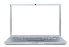 Portátil com monitor em branco Imagens de Stock