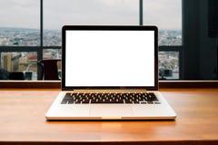Portátil com tela em branco Imagem de Stock Royalty Free
