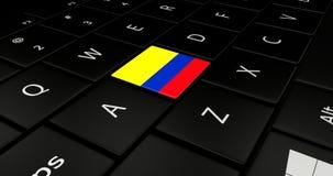 Portátil do teclado ilustração royalty free