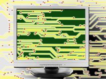 portátil moderno isolado no fundo branco Imagens de Stock