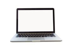 Portátil no fundo branco com trajeto de grampeamento fotos de stock royalty free