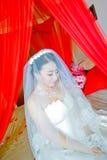 A porté le mariage la jeune mariée Photo libre de droits