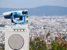 Portée à jetons de visionnement donnant sur Kyoto sur Sunny Day Photo stock