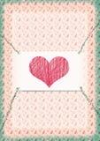 Portée avec un coeur Image stock
