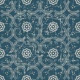 Portée courbe sans couture antique Dot Line Frame Flower de fond illustration de vecteur