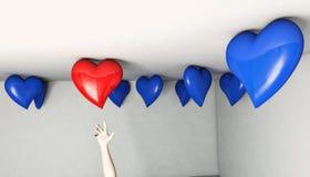 Portée de coeur de ballon Illustration Libre de Droits