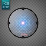 Portée de tireur isolé Concept au néon de cible Élément d'interface de jeu Vecteur Images libres de droits