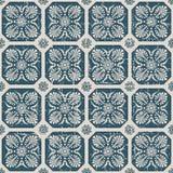 Portée fleur antique sans couture de croix du fond 152_fan Images stock