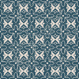 Portée la géométrie antique sans couture d'étoile de croix du fond 137_Islam Photographie stock libre de droits