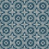 Portée ligne antique sans couture de fleur de croix du fond 180_round Image stock