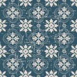 Portée ligne antique sans couture de point de fleur du fond 189_round Image stock