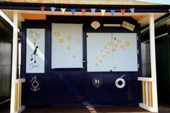 Portée pour la hutte de plage d'étoiles Photographie stock