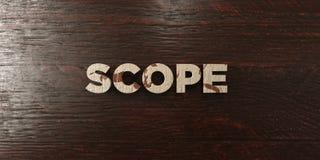 Portée - titre en bois sale sur l'érable - image courante gratuite de redevance rendue par 3D Images stock