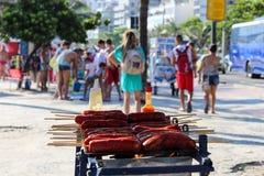 Portées thermiques 44 de sensation 5 degrés de Celsius en Rio de Janeiro Image stock