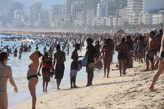 Portées thermiques 44 de sensation 5 degrés de Celsius en Rio de Janeiro Images libres de droits