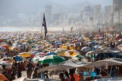 Portées thermiques 44 de sensation 5 degrés de Celsius en Rio de Janeiro Image libre de droits