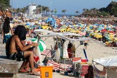 Portées thermiques 44 de sensation 5 degrés de Celsius en Rio de Janeiro Photographie stock