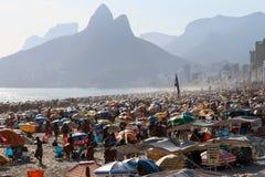 Portées thermiques 44 de sensation 5 degrés de Celsius en Rio de Janeiro Photos stock