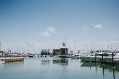 Port à Auckland Photo libre de droits