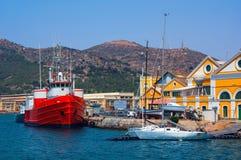 Port à Carthagène, Espagne Images libres de droits