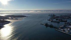 Port à Gothenburg banque de vidéos