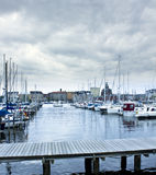 Port à Helsinki Photo libre de droits