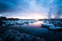 Port à la Réunion de La Image stock