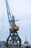 Port, ładowanie, żurawie, ładunku terminal Fotografia Stock