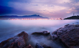 The port. Filmed in China of Lianyungang City Stock Photo