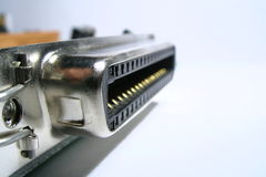 Port. Parallel port royalty free stock photos