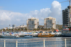 Port. Seaport in the city of Ashchdod in Israel Stock Image