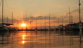 Port. In sunset Stock Photo