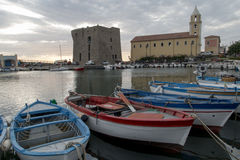 The port of Acciaroli royalty free stock image