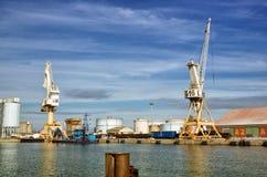 Sea trading port activities Stock Photos