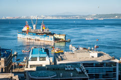 Port Activity. At Valparaiso, Chile, UNESCO protected city. Beautiful travel destination Royalty Free Stock Photography