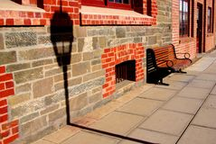 Port Adelaide Lamp & Bench Royalty Free Stock Photo