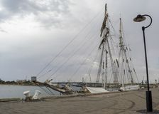 Side View: Tall Ship One and All, Port Adelaide, SA Stock Photo