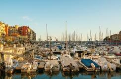 Port Ładny miasto, Francja Obrazy Royalty Free
