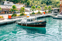 Port on the Aegean coast, Turkey Stock Photo