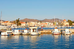 The port in Aegina, Greece. Boats in the port of Aegina island, Greece Royalty Free Stock Image