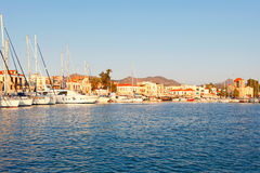 The port in Aegina, Greece. Boats in the port of Aegina island, Greece Royalty Free Stock Photo