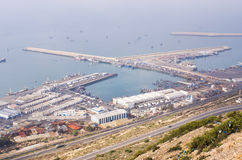 Port of Agadir seen from above, Morocco Royalty Free Stock Photography