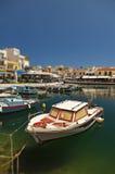 Port in Agios Nikolaos Stock Images