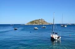 Port of Agios Nikolaos at Zakynthos , Greece Royalty Free Stock Image